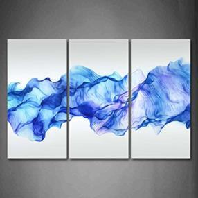 Artistico Astratto Blu Piace Onda