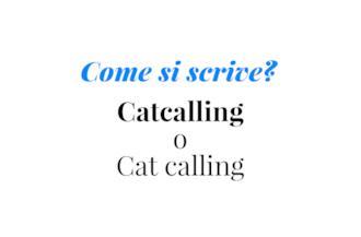 Copertina Come si scrive Catcalling