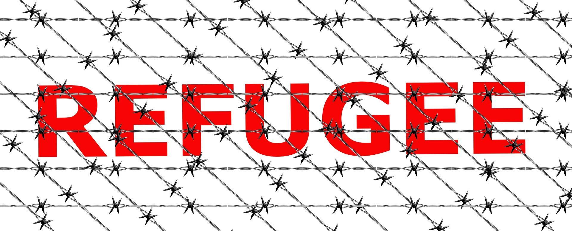Immagine con frasi sui rifugiati