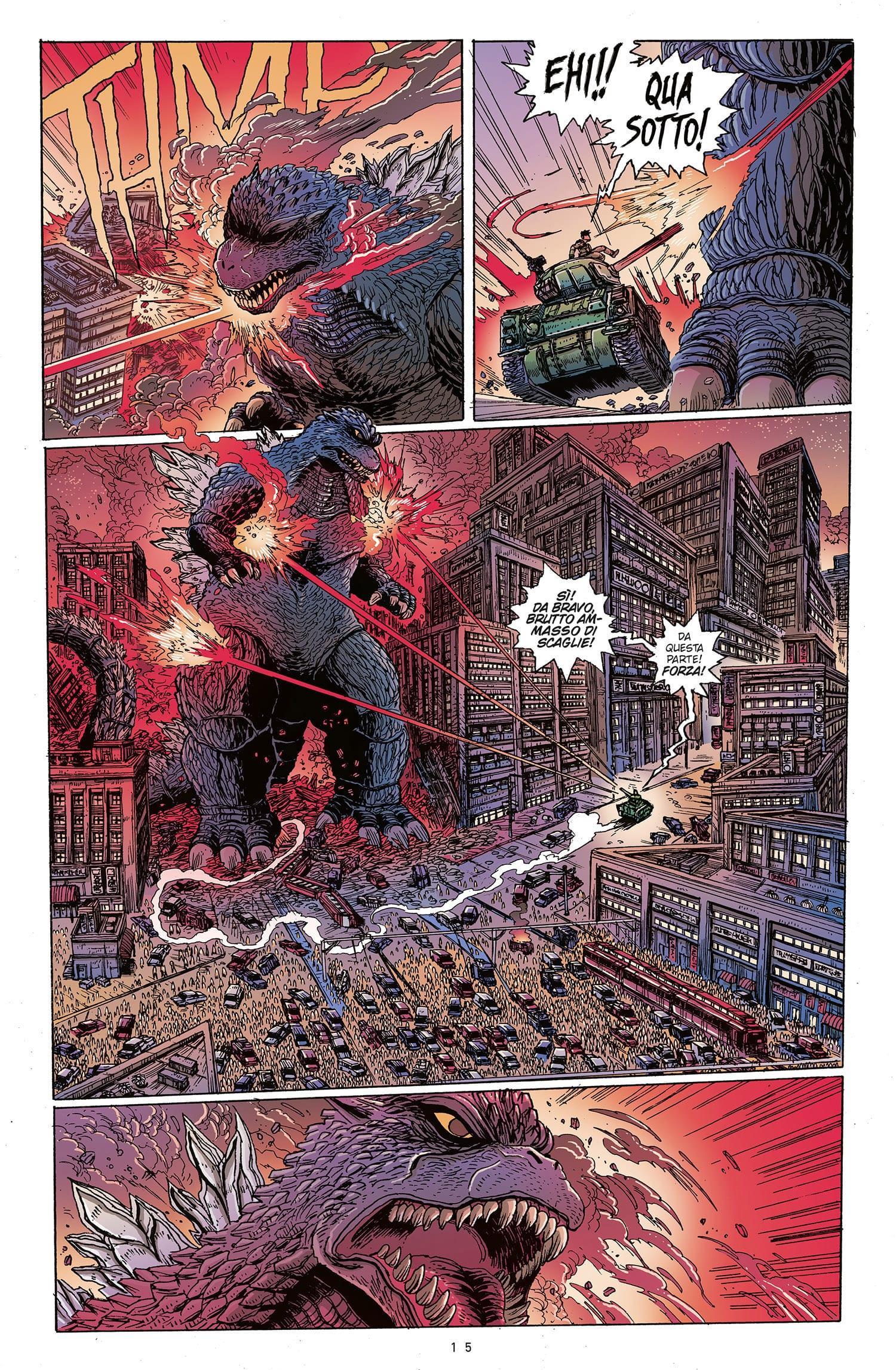 La prima apparizione di Godzilla nel fumetto