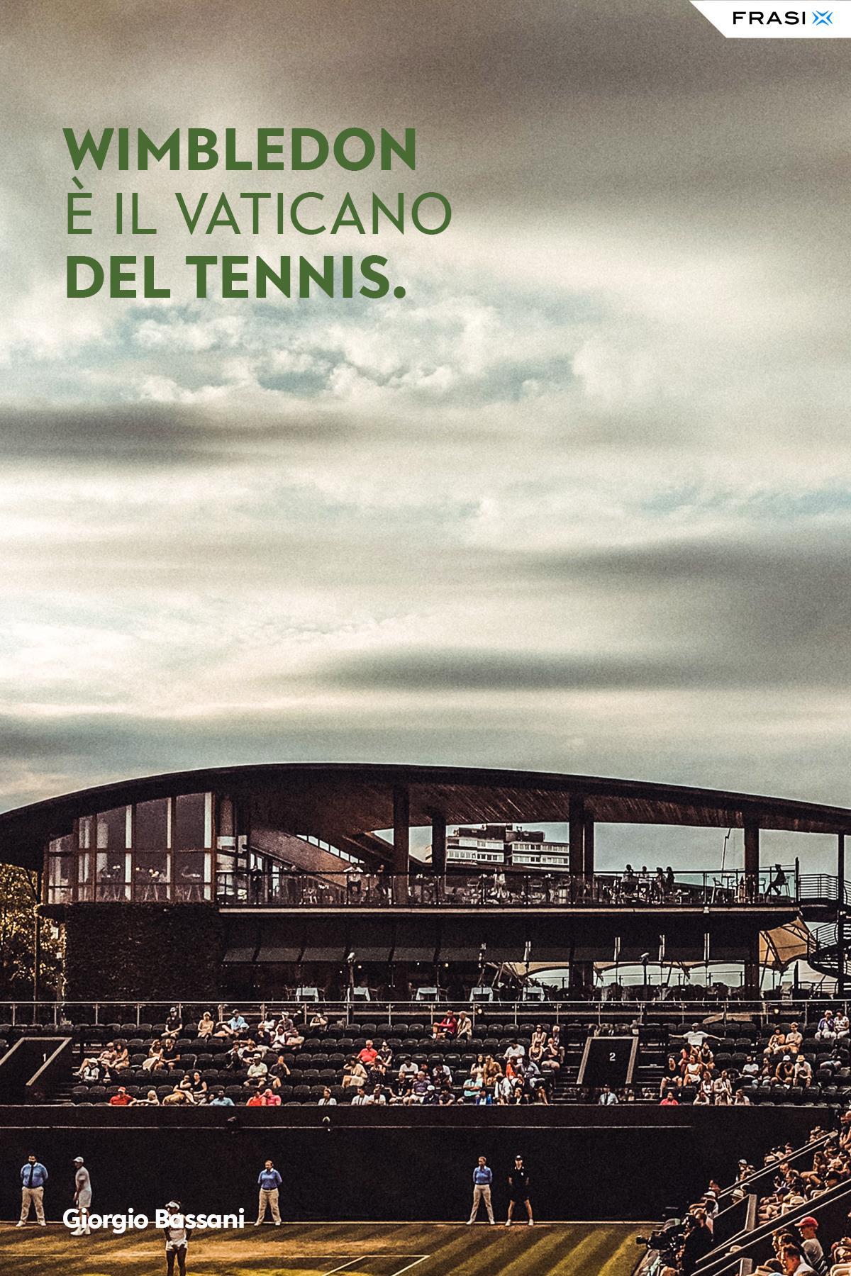 Frasi sul tennis di Giorgio Bassani