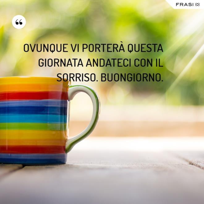 Immagine buongiorno tazza colorata