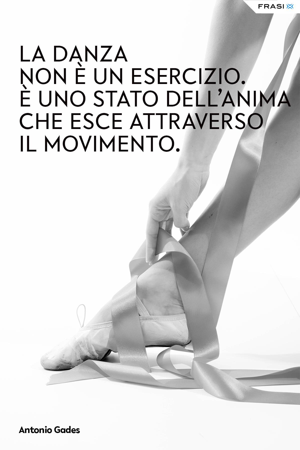 Frasi su danza esercizio Antonio Gades