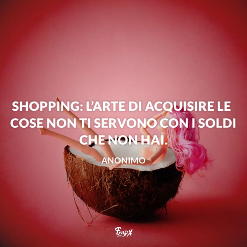 Frasi sulle donne e lo shopping