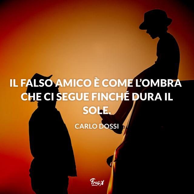 Il falso amico è come l'ombra che ci segue finché dura il sole.