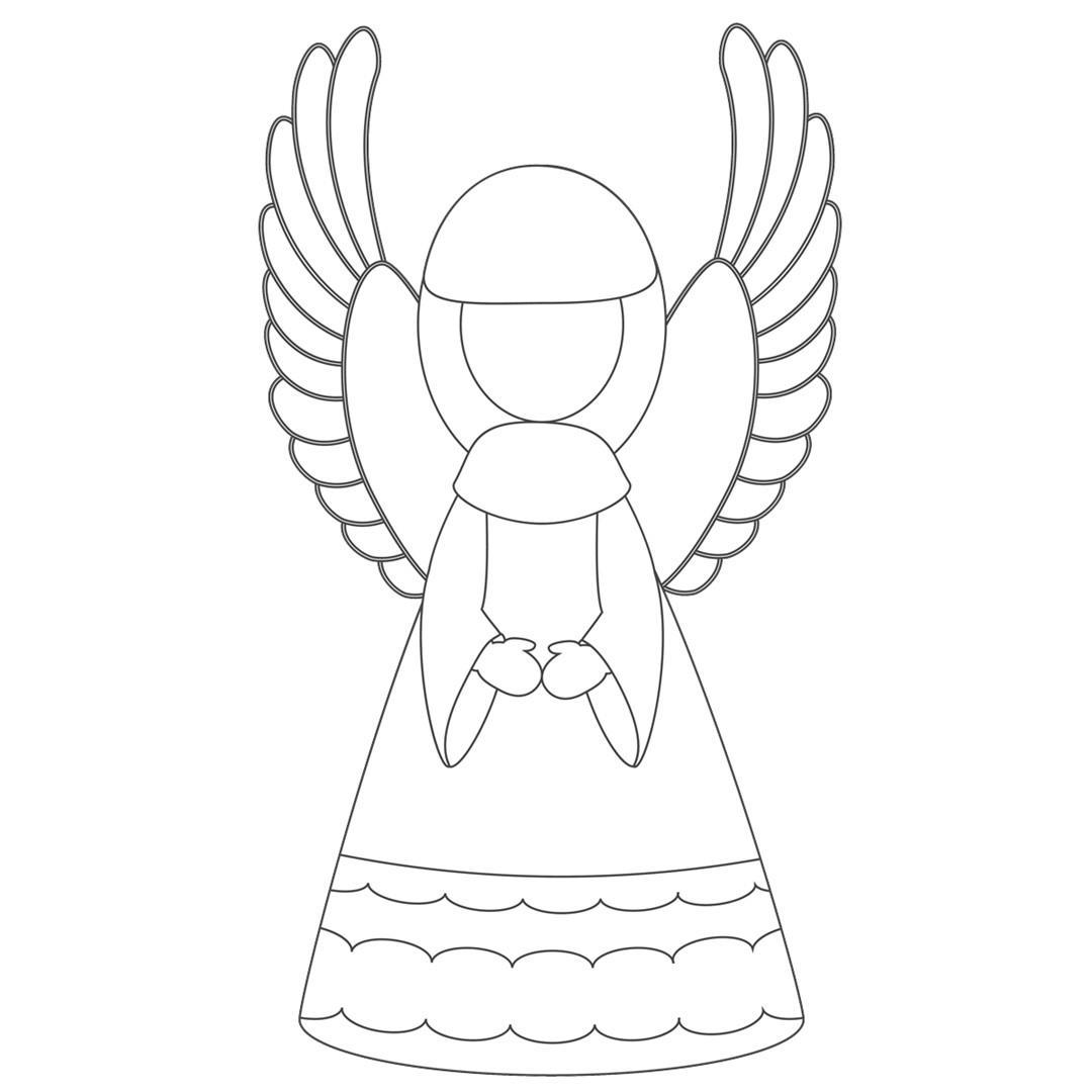 angeli di natale da stampare