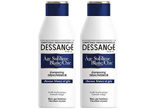 Dessange età Sublime Bianco Chic Shampoo déjaunisse 250 ml 2 pezzi