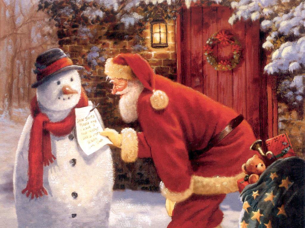 Immagini di Natale con la neve