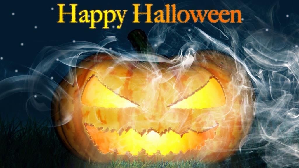 Happy Halloween con zucca spaventosa