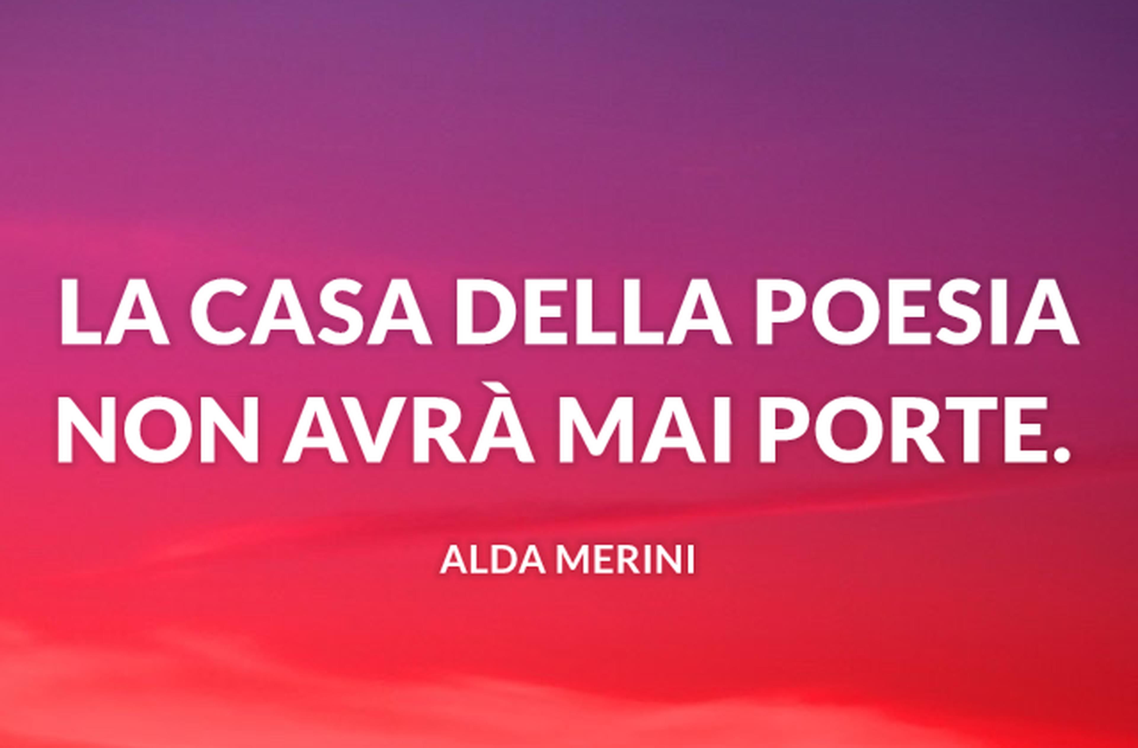 La casa della poesia non avrà mai porte