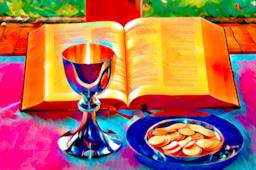 Calice e Bibbia per Prima Comunione