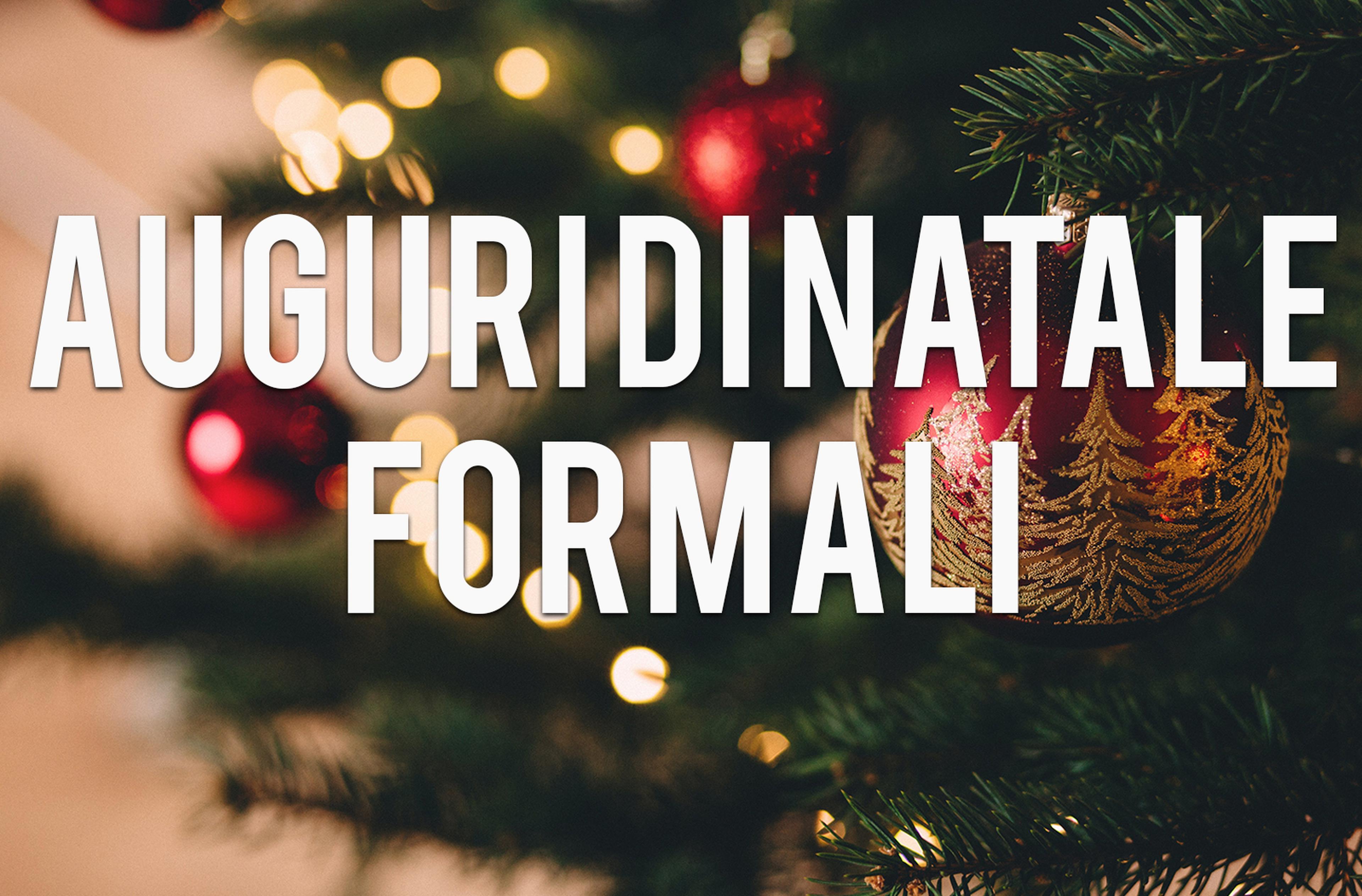 Copertina auguri di Natale formali
