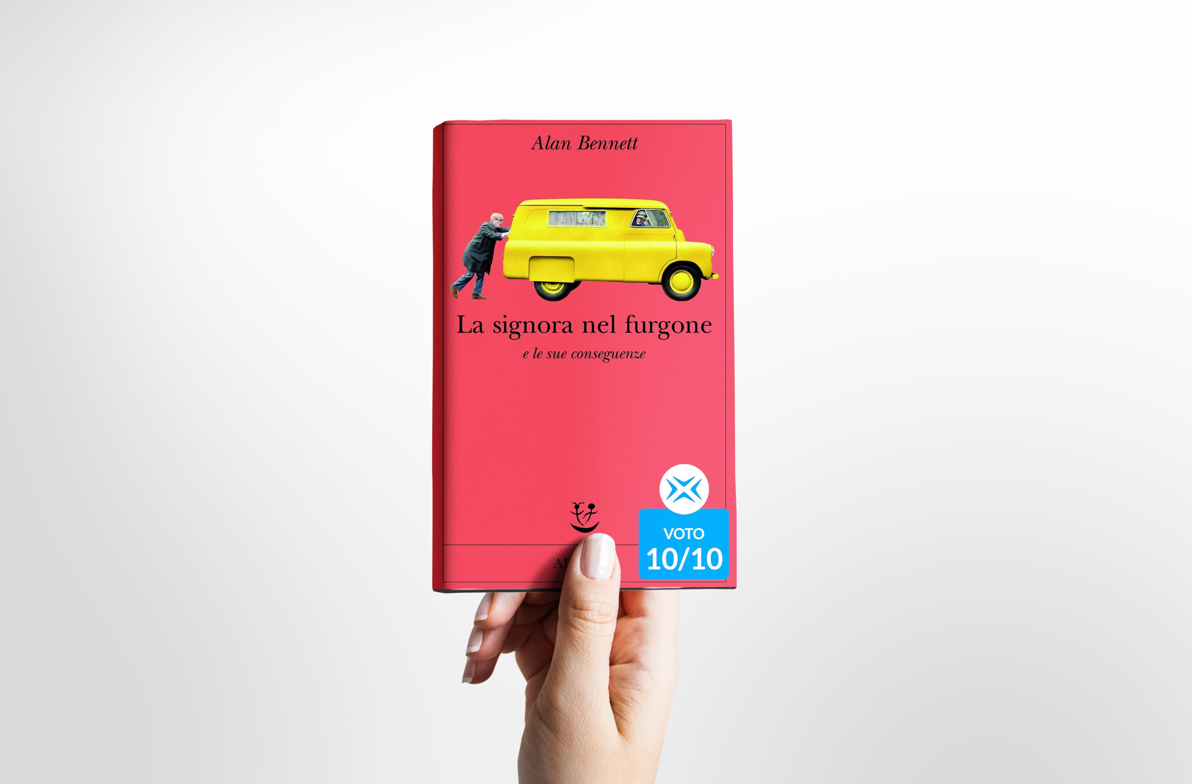 La signora nel furgone di Alan Bennett, cover del libro