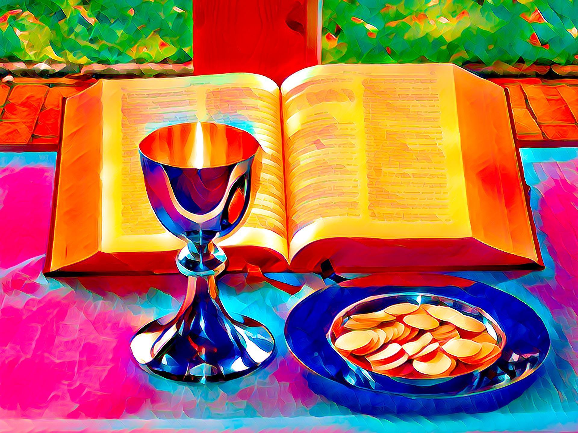 Vangelo e calice per aucaristia