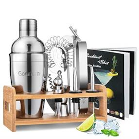 Cocktail Shaker Set,14 + 1 Pezzi Kit da Barman