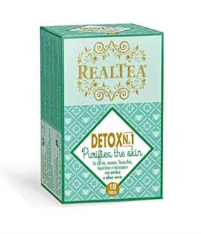 Infuso con tè verde, menta, finocchio, liquirizia, tarassaco, ortica e aloe vera