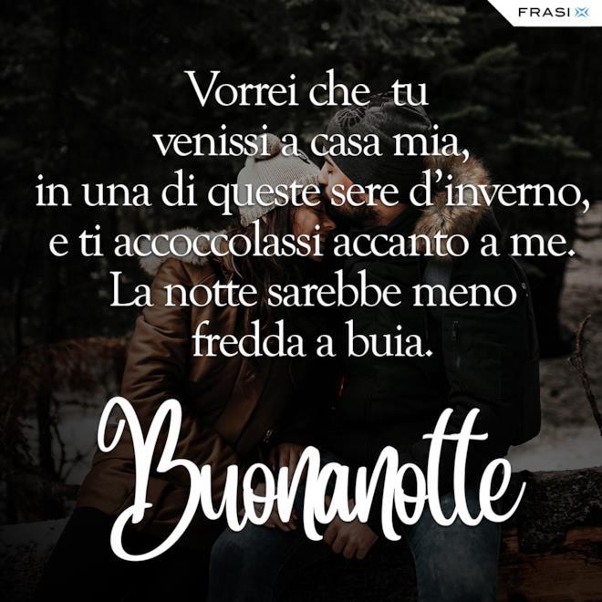 Buonanotte inverno frasi amore