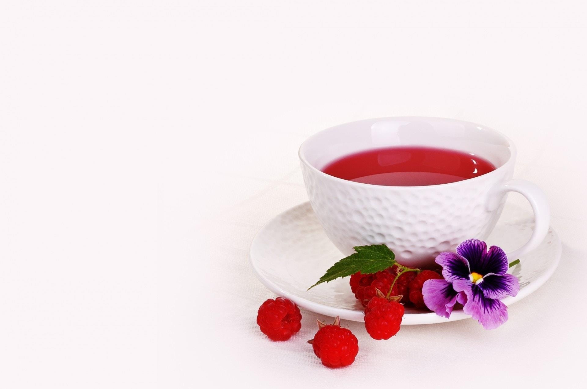 Tè rosso Karkadè in tazzina