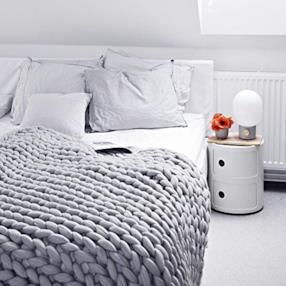 Massiccia coperta da divano in lana Merino