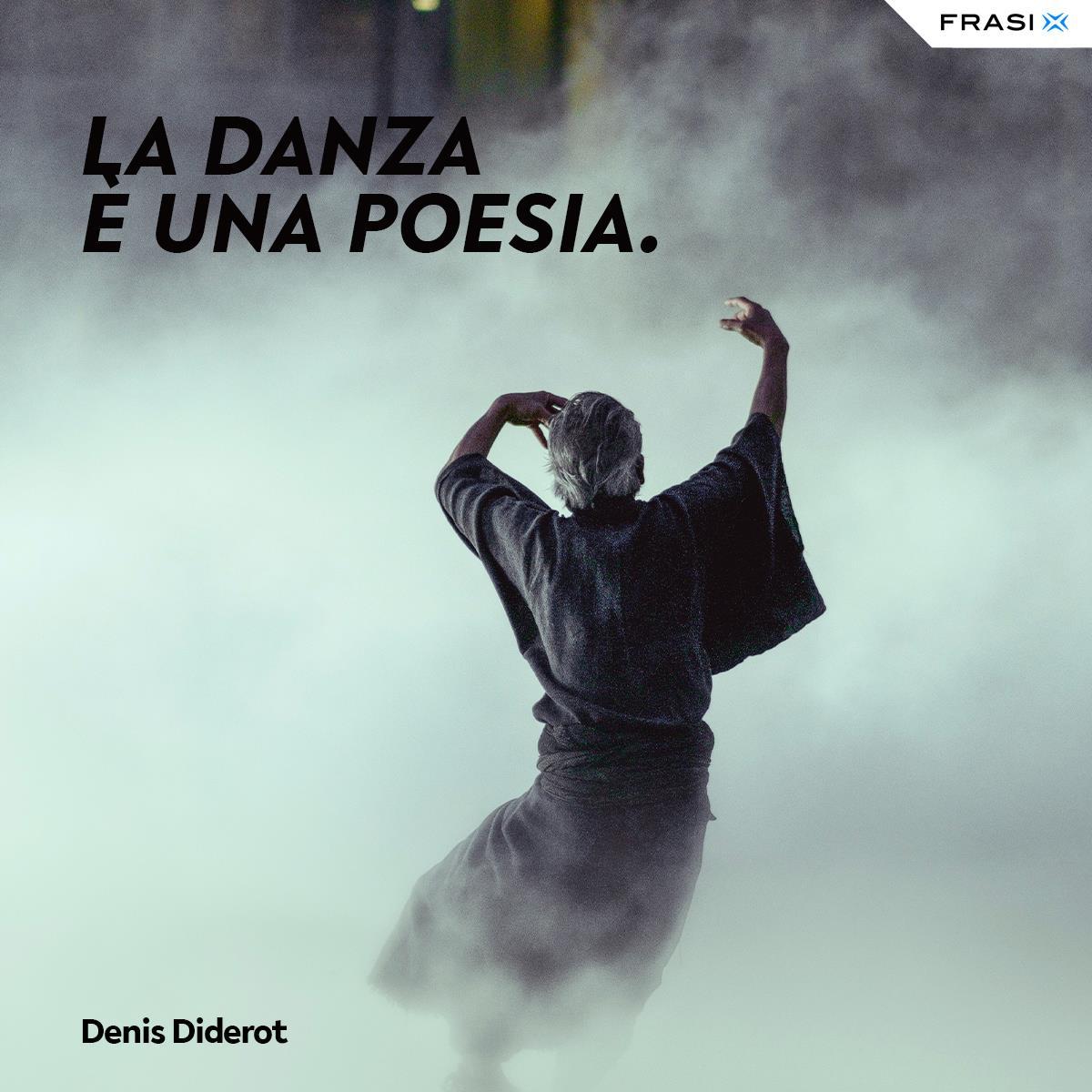 Frasi sulla danza poesia Diderot