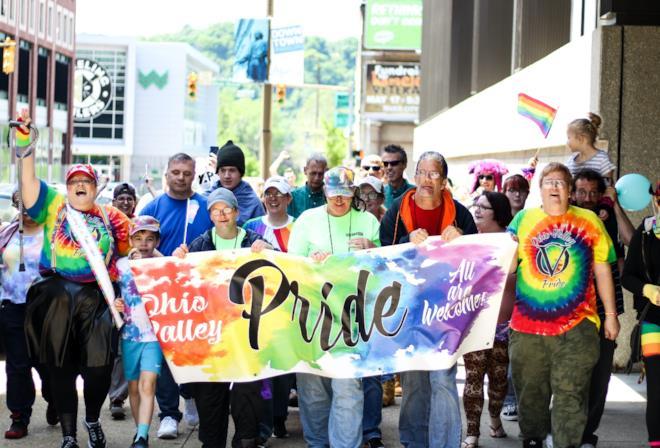 Folla durante il Pride