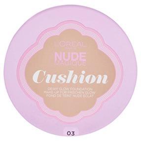 L'Oréal Makeup Designer Paris Nude Magique Cushion Fondotinta, 03 Vanilla