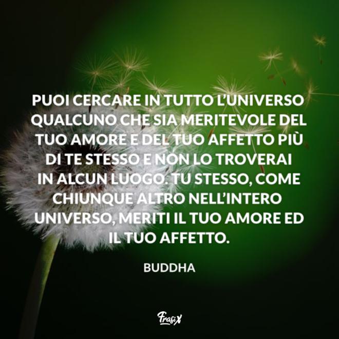 Immagine con citazione buddha per frasi buddiste su se stessi