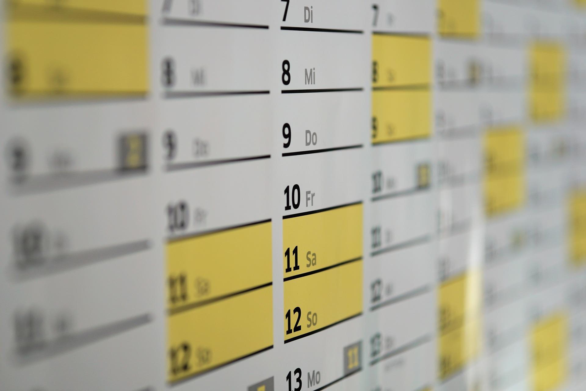 Calendario dieta dukan