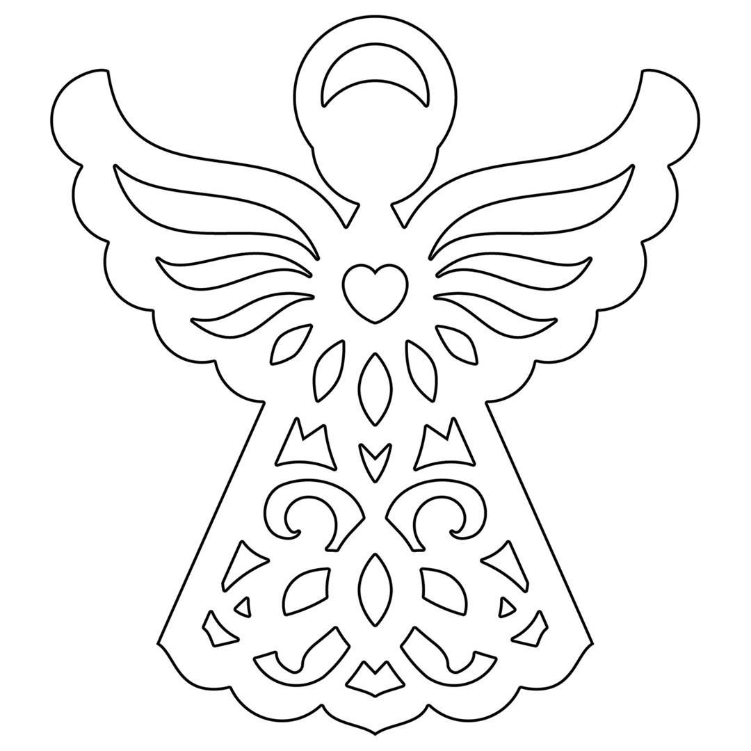 disegni di angeli di natale da stampare