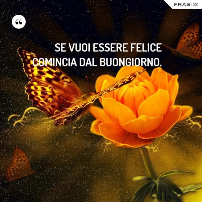Buon giorno immagine con farfalla e fiore