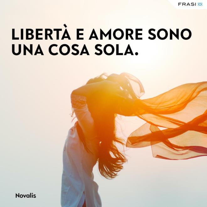 Frasi Novalis sulla libertà in amore