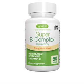 Vitamine B ad alta resistenza con folato, B6 & B12 più vitamina C, 60 compresse