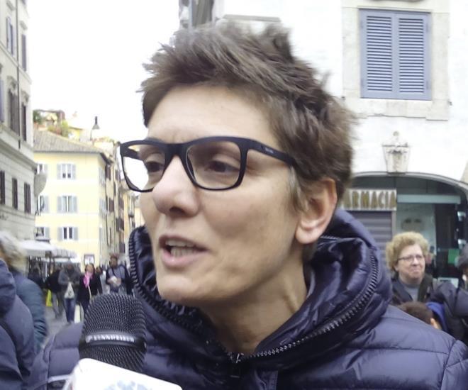 Imma Battaglia durante una manifestazione LGBT
