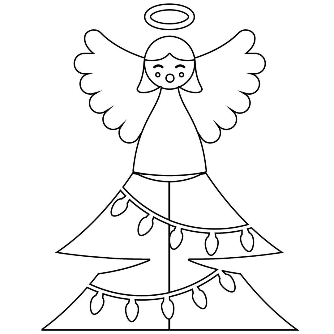 disegni di angeli di natale da stampare e colorare