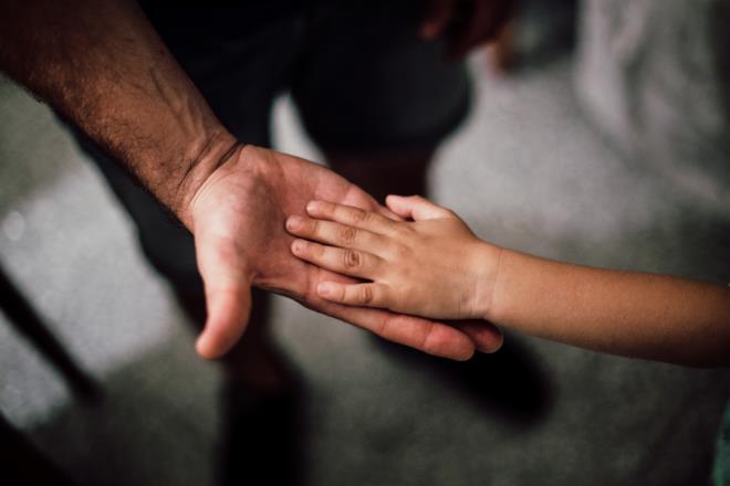 Leuconichia sulle mani di un bambino