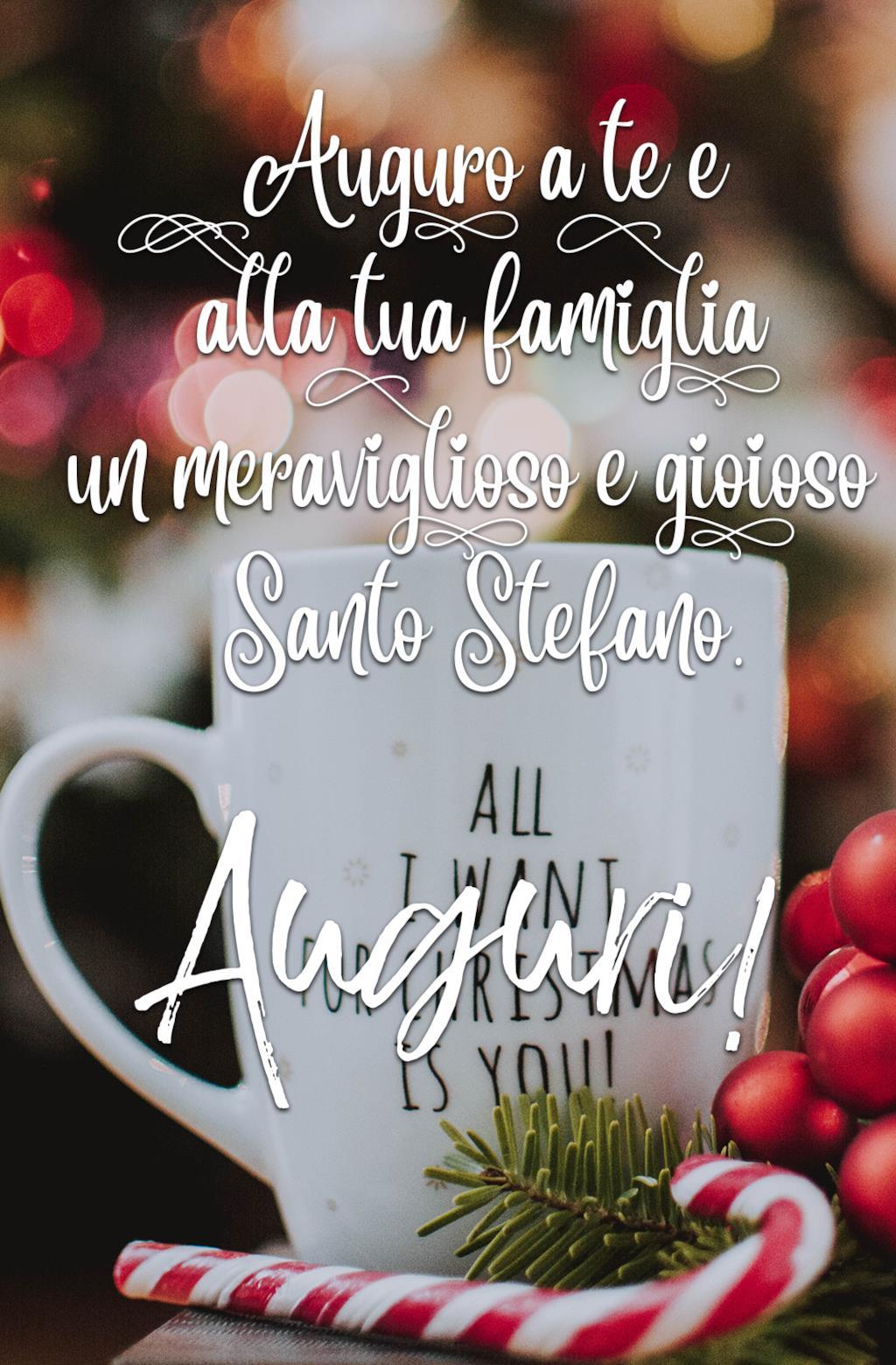 Buon Santo Stefano auguri alla famiglia
