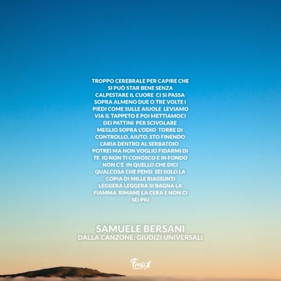 Giudizi Universali - Samuele Bersani