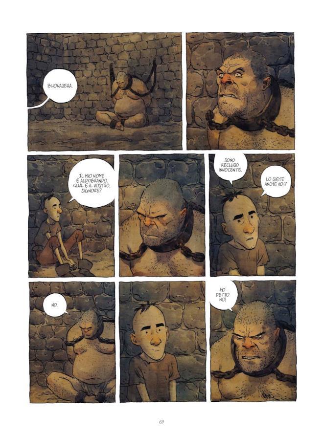 Aldobrando e l'Ucciditore in prigione