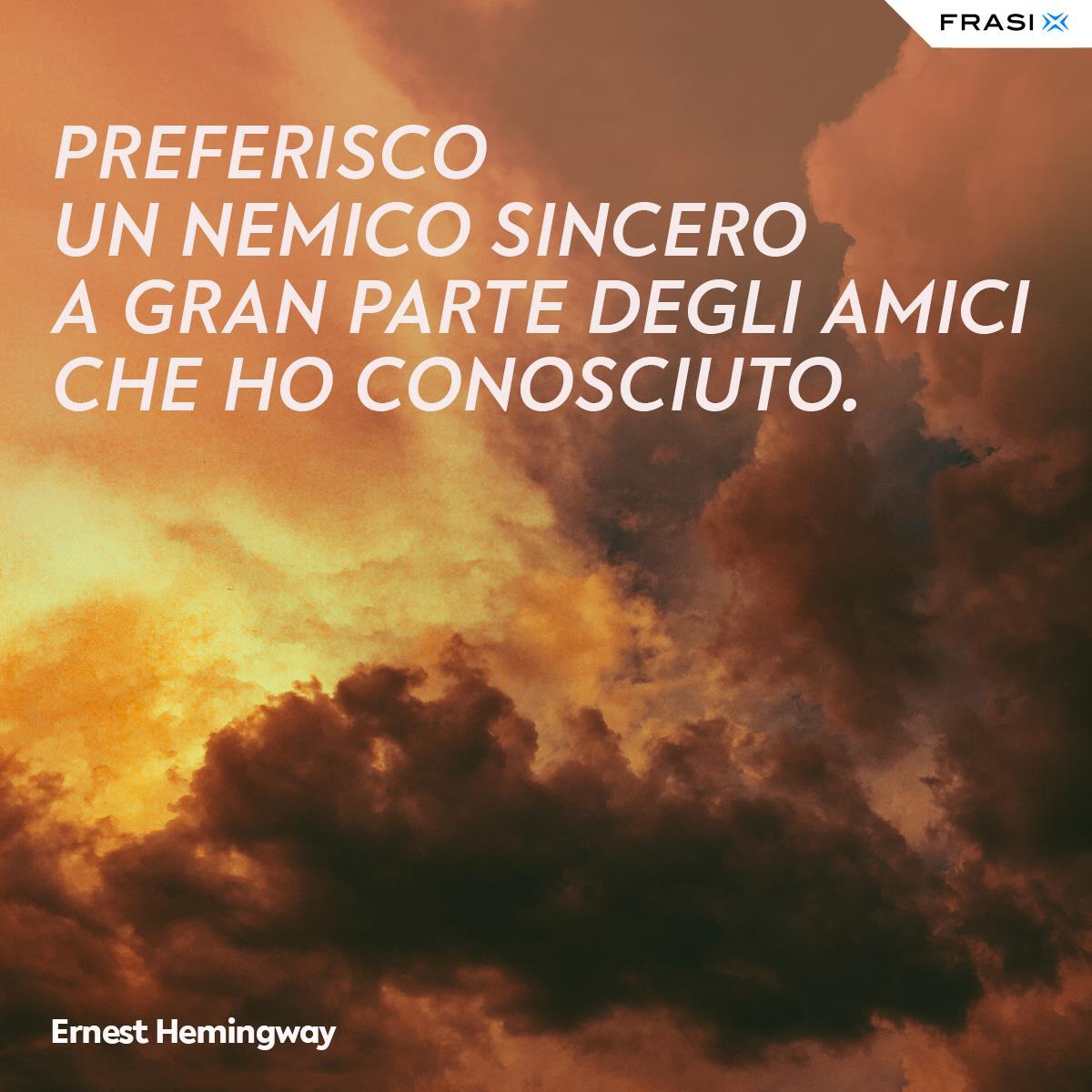 Frasi depresse amicizia Ernest Hemingway