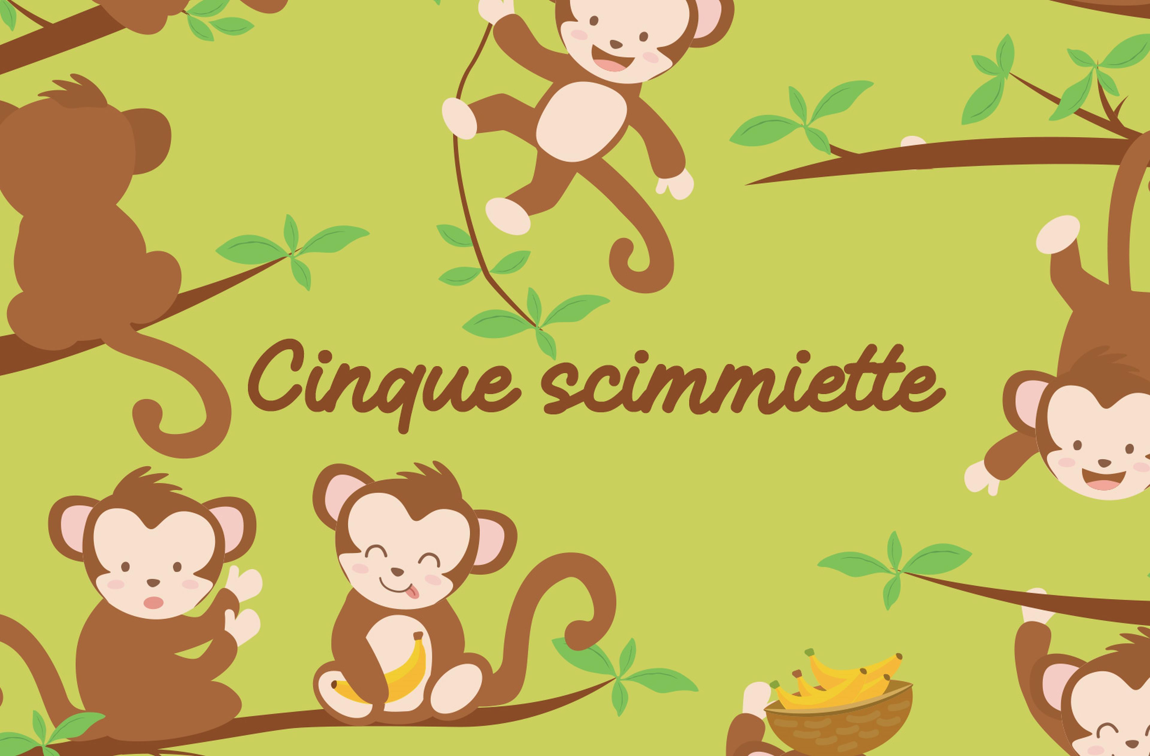 Cinque scimmiette: il testo in più lingue con il video del brano