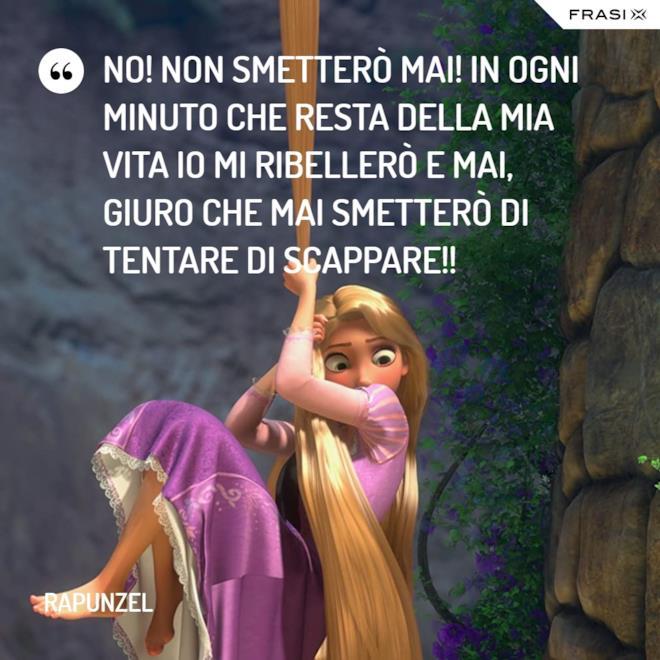Immagine con frase del film Rapunzel