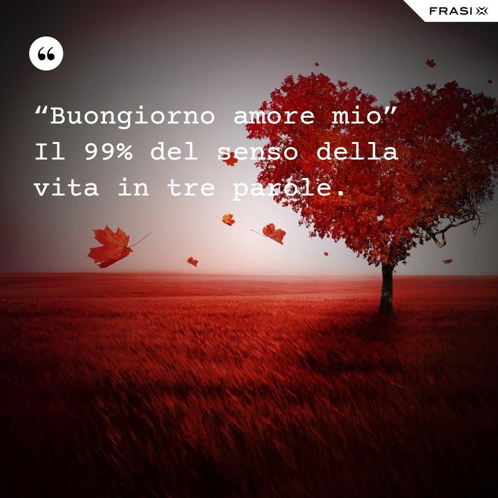 """""""Buongiorno amore mio"""" Il 99% del senso della vita in tre parole."""