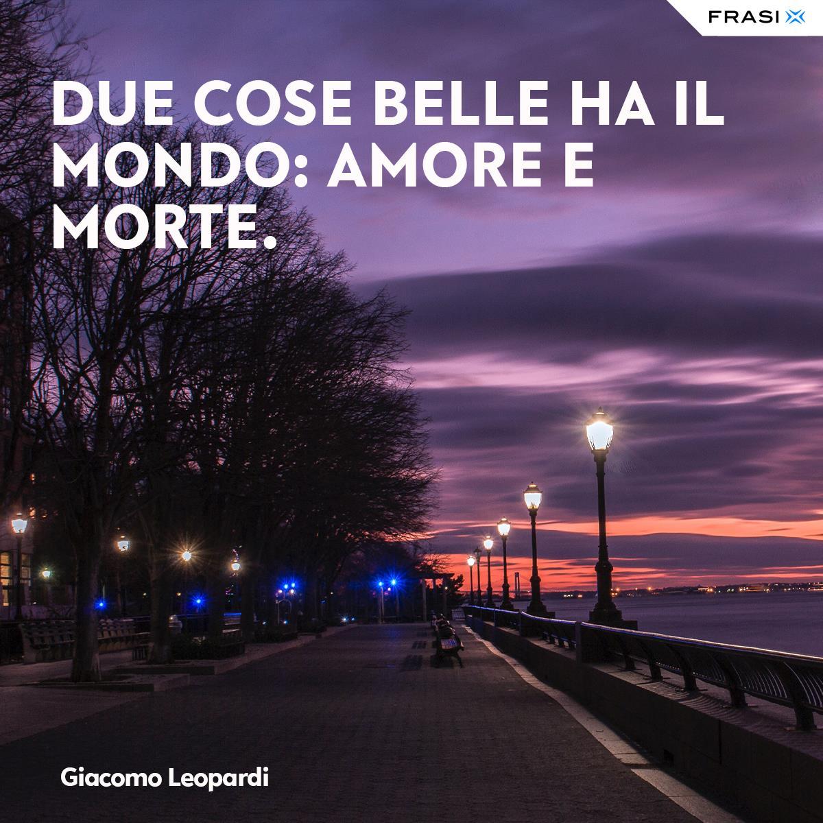 Aforismi d'amore Giacomo Leopardi