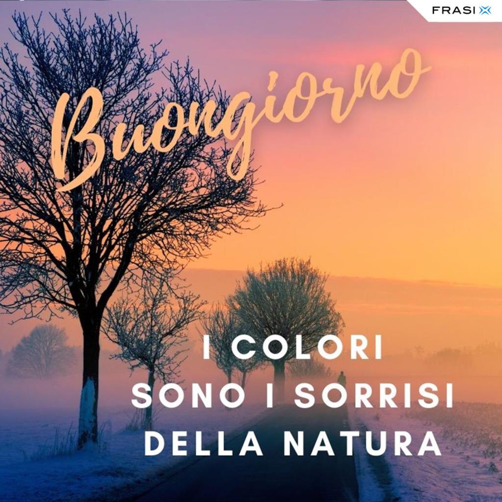 Buongiorno invernale con colori