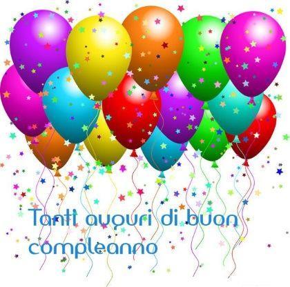 Dei palloncini e coriandoli - Immagini di buon compleanno, le più simpatiche da scaricare gratis