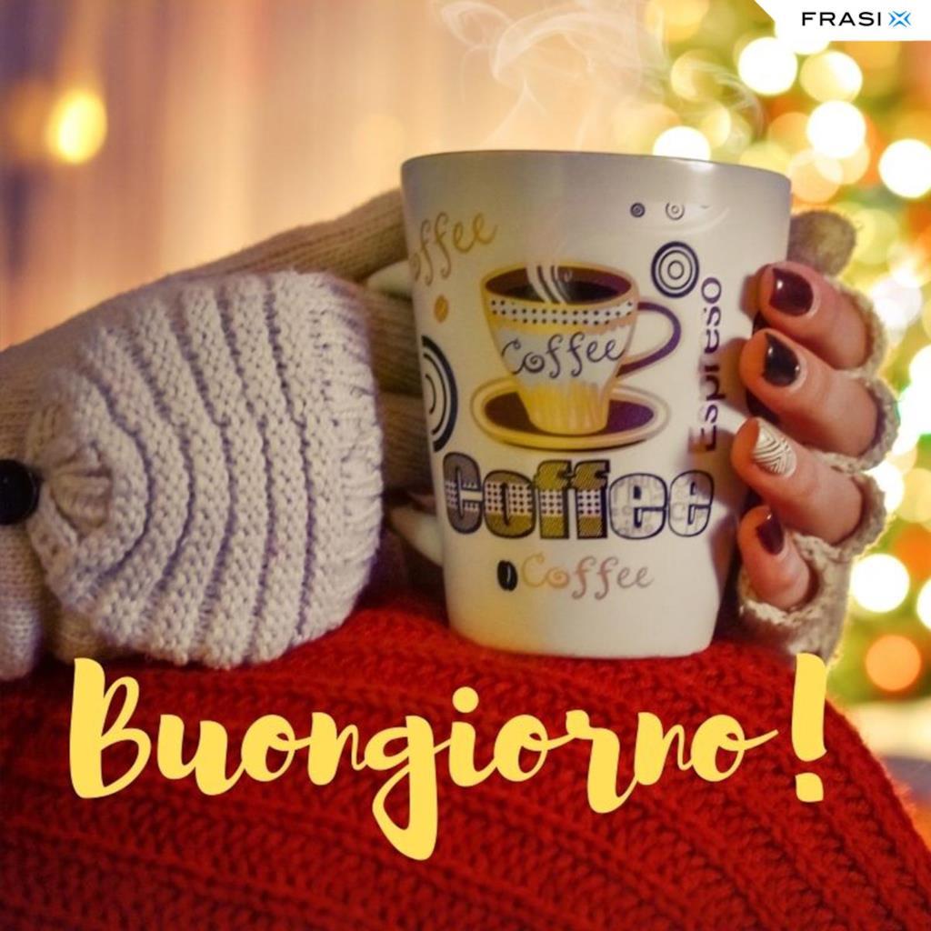 Buongiorno invernale con caffè