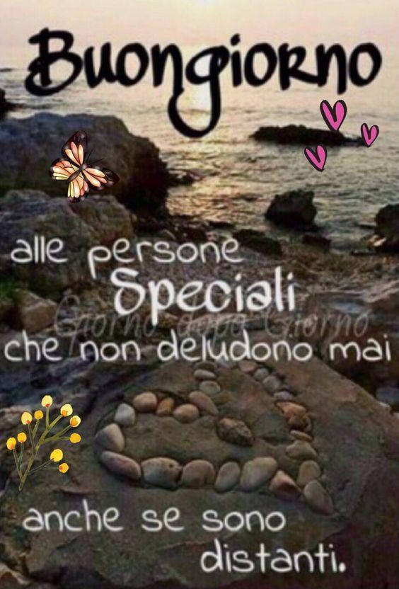 Immagine per il buongiorno con citazione motivazionale Buongiorno alle persone speciali che non deludono mai, anche se sono distanti.