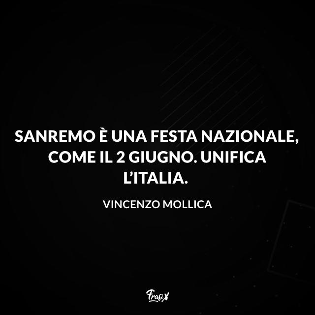 Sanremo è una festa nazionale, come il 2 giugno. Unifica l'Italia.