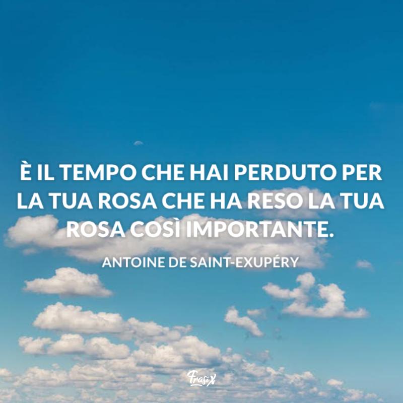 Immagine con citazione Antoine de Saint-Exupèry per frasi brevi sul tempo che passa