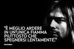 Copertina Kurt Cobain frasi